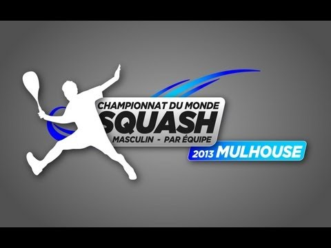France v England Semi Final World Men's Team Squash Championship 2013