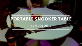 Portable Snooker Table by Geologic at the Decathlon Innovation Awards 2015