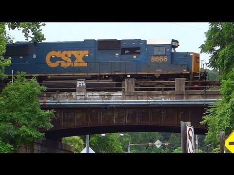 CSX SD50-2 #8666 Over Washington Blvd