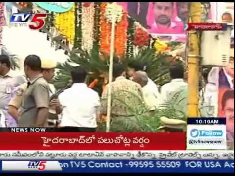 KCR Pays His Respects to BR Ambedkar   Garland's Statue : TV5 News