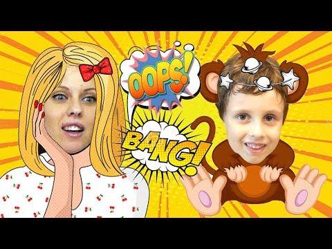 Bad Baby. Вредные детки прыгают на кровати. Nursery Rhymes for Children Simple Songs for Children