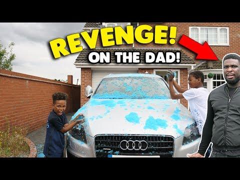 REVENGE Slime Car Prank on Evil Dad Turns into SLIME FIGHT!