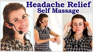 Headache Relief Self Massage, How To Get Rid of A Headache or Migraine Fast Relaxation ASMR