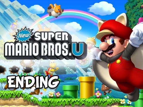 New Super Mario Bros. Wii U Walkthrough - Part 35 ENDING Let's Play WiiU Gameplay
