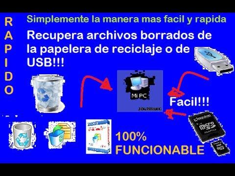 Como recuperar archivos borrados de la papelera de reciclaje facil y rápido