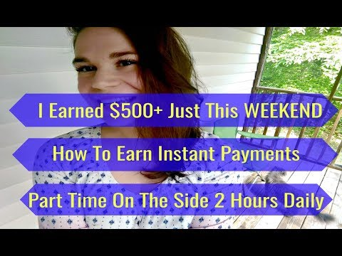 How To Make $500 A Week Online - I Earned $500+...