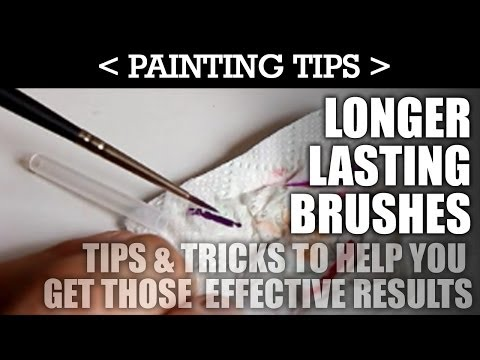 Painting Tip 3: LONGER LASTING BRUSHES! Quick Tips & Tricks to help you get great results! | HD