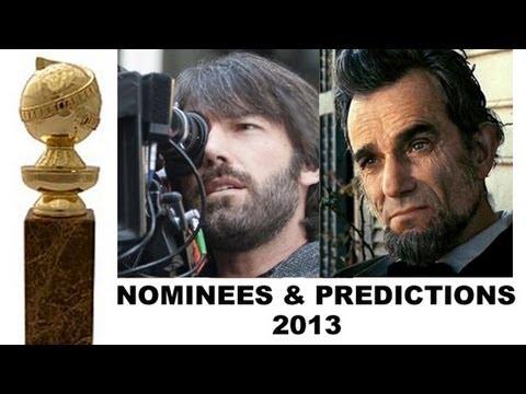 Golden Globes 2013 Nominations & Predicted Winners - Argo, Lincoln, Django Unchained