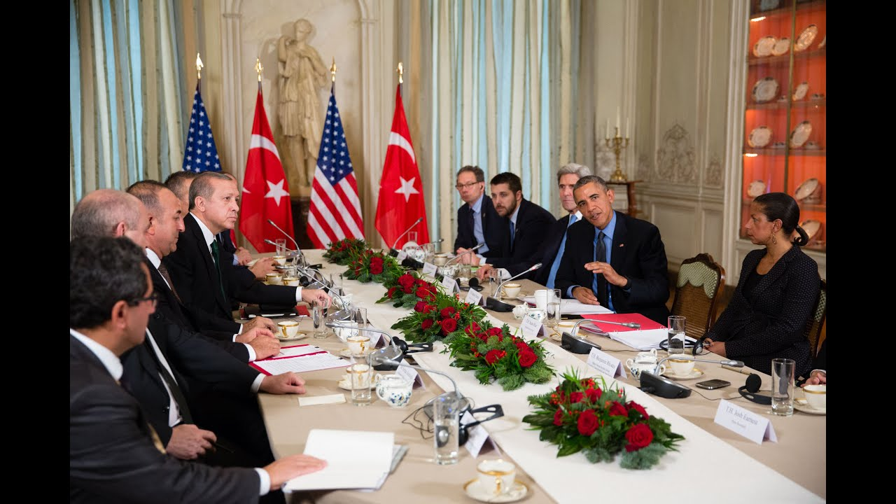 The President Meets with the President of Turkey in Paris