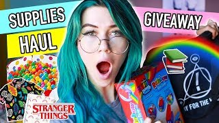 Back to School Supplies Haul + Giveaway 2019