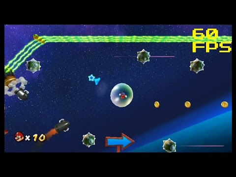62. [60 FPS] The Electric Labyrinth - Bubble Blast Galaxy - Super Mario Galaxy