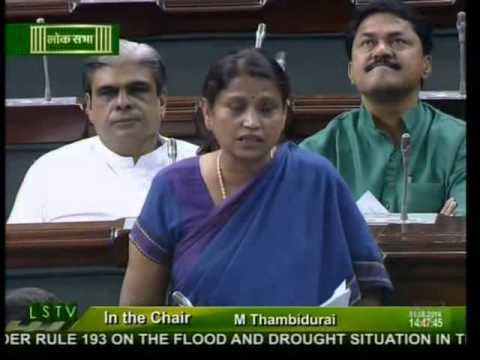 Lok Sabha: Flood and drought situation in the country: Shri Krishna Raj: 01.08.2014
