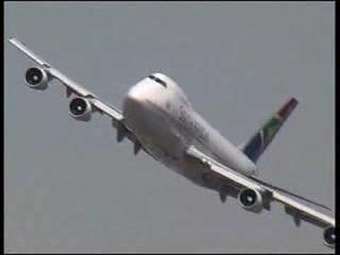 Boeing 747 South African Airways Fantastique Pilote