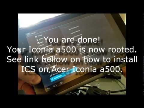 Downgrade and Root Acer Iconia a500 to Honeycomb 3.0