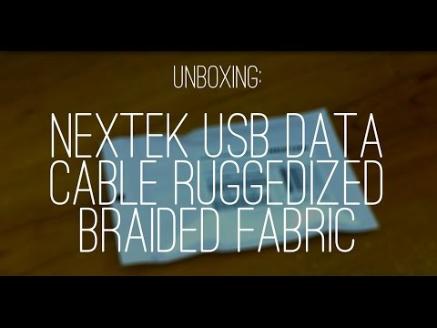 Unboxing: Nextek USB Data Cable Ruggedized Braided Fabric (HD) | GeekHelpingHand