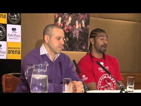 DAVID HAYE ANNOUNCES COMEBACK FOR MANCHESTER ARENA ON 29 JUNE 2013 / FULL PRESS CONFERENCE