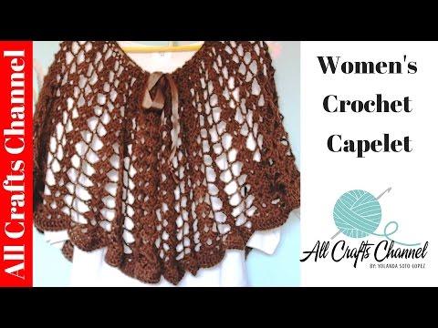 #crochet capelet (subtitulos en Espanol)
