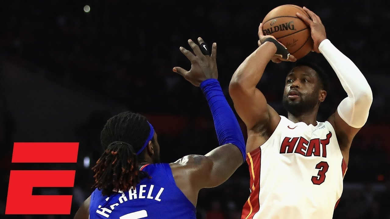Wade shows out in 1000th career game as Heat top Clippers | NBA Highlights