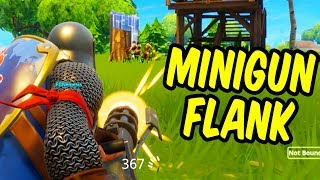 MINIGUN FLANK - Fortnite Battle Royale