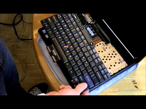 Tutorial: Upgrade ram in IBM T42 Thinkpad