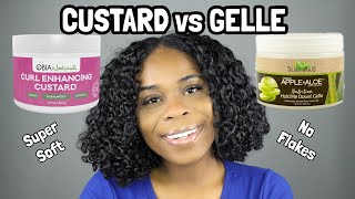 Whew Chile...The SOFTNESS! | Gelle vs Custard on Natural Hair