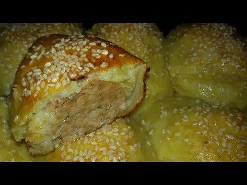 Картофельные биточки с мясом.