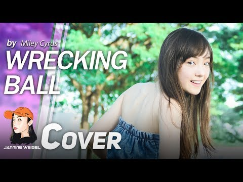 Wrecking Ball - Miley Cyrus (Official music video cover by Jannina W)