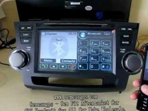 2011 Toyota Highlander For Sale >> TOYOTA HIGHLANDER navigation dvd player - YouTube
