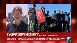 Turkey coup attempt: at least 161 people killed, Parliament bombed by Turkish jets