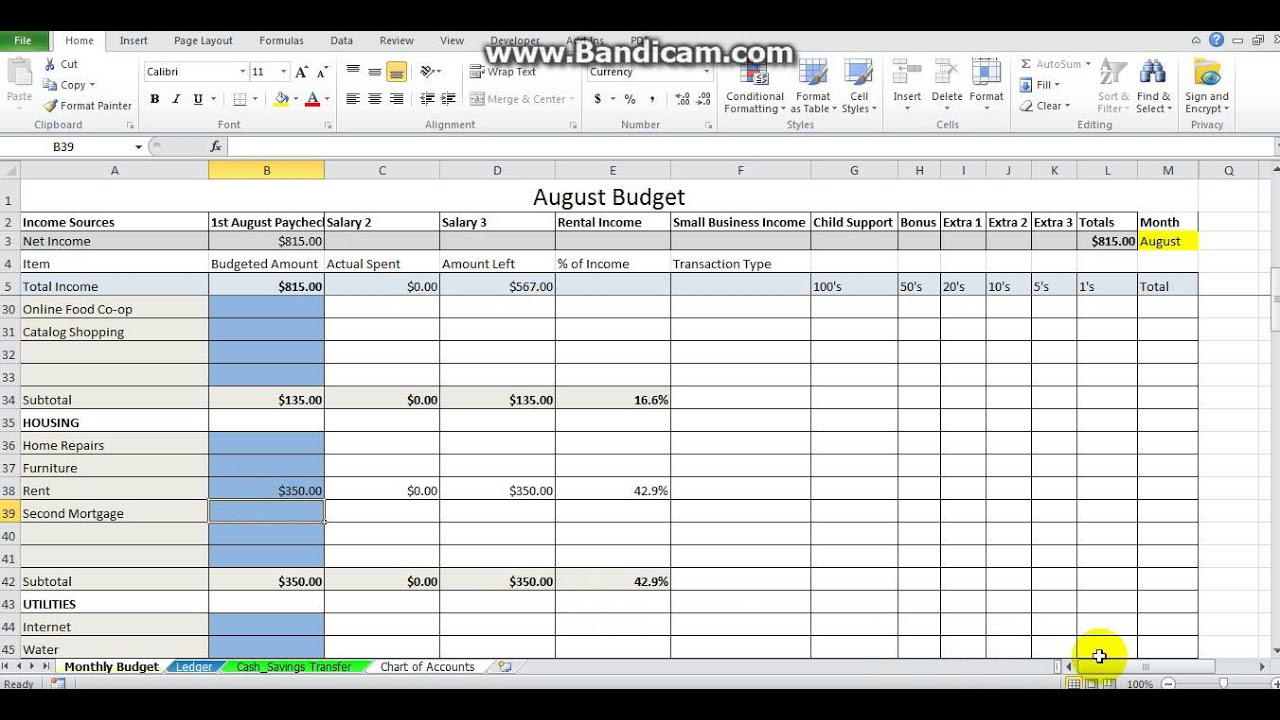 Dave ramsey zero based budget excel spreadsheet