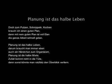 Das Halbe Leben Planung Ist Das Halbe Leben