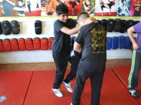 Knee Pad work Young Warriors Kids Class Kickfit Martial Arts Academy, Nottingham,UK Image 1