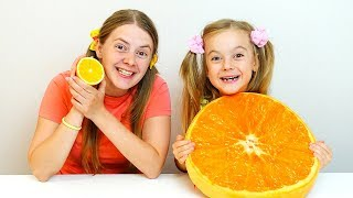 Giant Squishy Food VS Real Food Education activities video