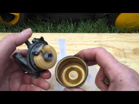 how to fix lawn mower carburettor