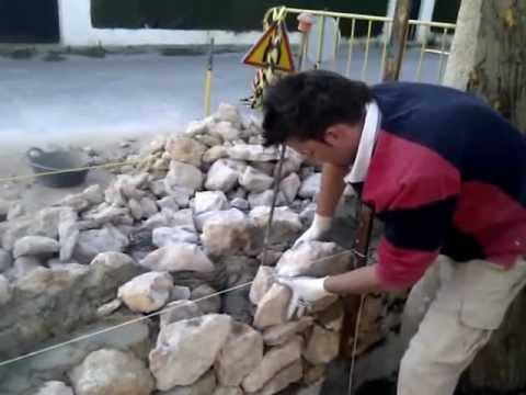 Colocacion en mamposteria en piedra de campoamor youtube - Colocacion de piedra natural ...