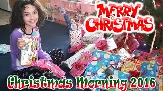 Opening Presents on Christmas Morning 2016 | CAMMI TV
