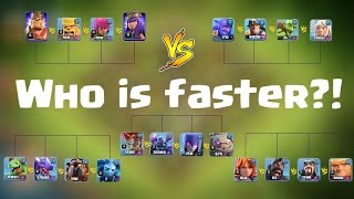 Clash of Clans | Who is FASTER?! | Race Tournament