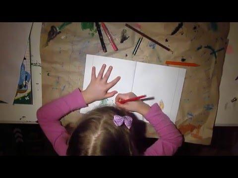 Видео как нарисовать зайца и волка