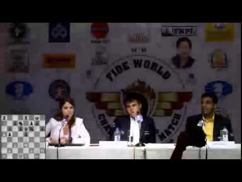Game 6 - Post Match Press Conference with Viswanathan Anand and Magnus Carlsen