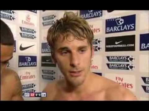 David Bentley quality post match interview! Video
