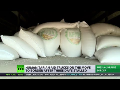 Convoy Contents: RT inspects trucks carrying humanitarian aid to E. Ukraine