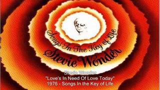 Watch Stevie Wonder Loves In Need Of Love Today video