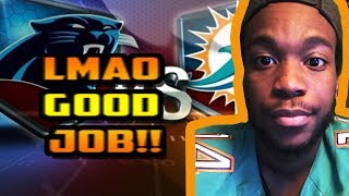 IVE HAD ENOUGH!!! ANGRY DOLPHINS FAN REACTS TO DOLPHINS LOSING TO THE CAROLINA PANTHERS!!