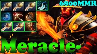 Dota 2 - Meracle- 6800 MMR Plays Ember Spirit Vol 2 - Ranked Match Gameplay!