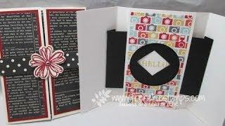 Shutter opening/closing greeting card