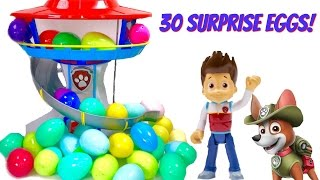 Best Learning Colors Video for Children  - Help Find Paw Patrol Pups in 30 Surprise Eggs