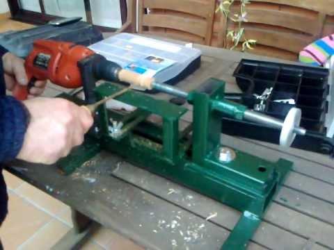 Torno para madera casero