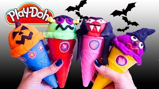 Halloween Ice Cream Parlor Building Toys Play Doh Ice Cream DIY Heladería de Juguete