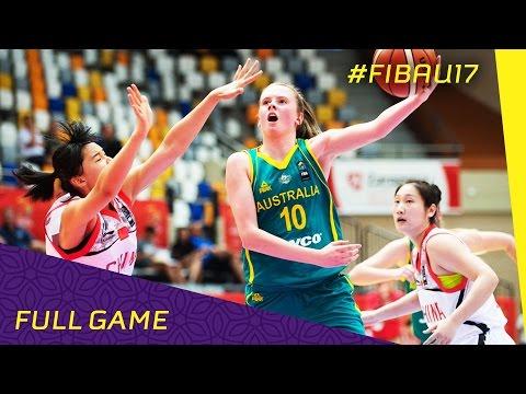 China v Australia - Full Game - 2016 FIBA U17 Women's World Championship