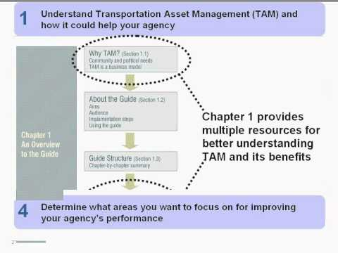 AASHTO/FHWA Transportation Asset Management Guide Webinar Series: Applying the Guide